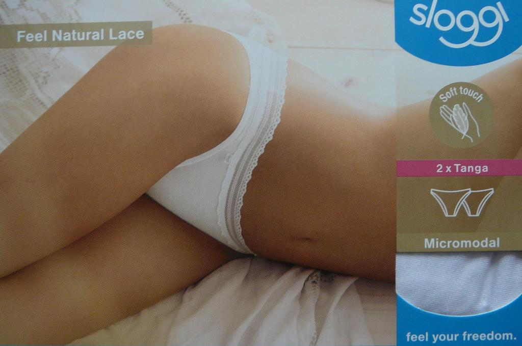 Sloggi Feel Natural Lace - brazilky 2 pack