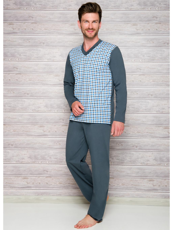 268f3e494a98 Roman - pánské pyžamo dlouhé Taro    noční prádlo    pánské noční ...